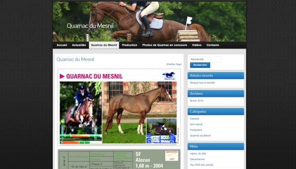 Mise en ligne d'un nouveau site: Quarnac du Mesnil